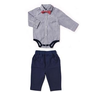 NWT Kapital K Oxford Bodysuit Bow Tie and Pant Set
